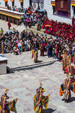 Hemis Festival 2014 at Hemis Monastery. Royalty Free Stock Image