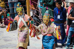Hemis Festival 2014 at Hemis Monastery. Hemis Monastery is a Tibetan Buddhist monastery of the Drukpa Lineage, located in Hemis, Ladakh, India. Situated 45 km Stock Photos