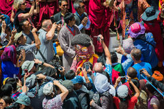 Hemis Festival 2014 at Hemis Monastery. Hemis Monastery is a Tibetan Buddhist monastery of the Drukpa Lineage, located in Hemis, Ladakh, India. Situated 45 km Royalty Free Stock Photo