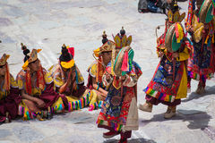 Hemis Festival 2014 at Hemis Monastery. Hemis Monastery is a Tibetan Buddhist monastery of the Drukpa Lineage, located in Hemis, Ladakh, India. Situated 45 km Stock Photo