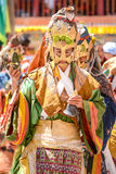 Hemis festival i Leh, Ladakh, Indien Arkivfoton