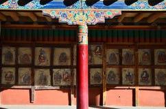Hemis kloster, Leh, Ladakh Arkivbild