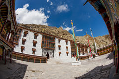 Hemis monastery and blue sky Royalty Free Stock Photos