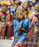 Hemis Monastery monk performing folk dance Stock Images