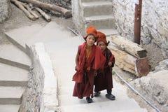 Hemis monastery. Young monks in Hemis monastery, Ladakh stock photos