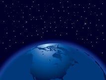 Hemisfério da terra ilustração stock