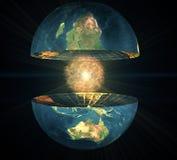 Hemisfério da terra dois ilustração do vetor