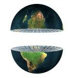Hemisfério da terra dois isolado ilustração stock