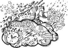 Hemisfério do cérebro esquerdo ilustração do vetor