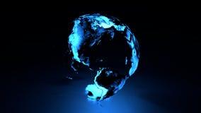 Hemisfério ocidental da terra holográfica ilustração do vetor