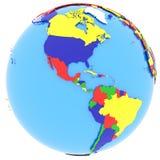 Hemisfério ocidental na terra ilustração royalty free