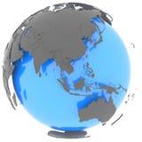 Hemisfério oriental no planeta ilustração royalty free