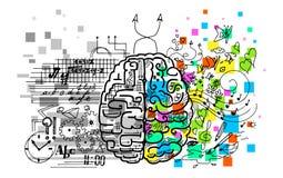 Hemisférios do cérebro ilustração do vetor