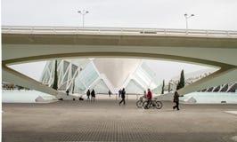 Hemisferic在艺术和科学,巴伦西亚,西班牙城市 库存照片
