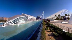 Hemisferic -现代未来派剧院和天文馆,巴伦西亚地标,西班牙 库存图片