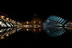 Hemisferic (2)的夜视图 免版税库存图片