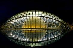 Hemisferic bis zum Nacht, Valencia lizenzfreies stockfoto