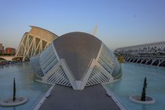 Hemisferic in the City of Arts and Sciences of Valencia. stock image