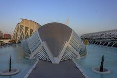 Hemisferic in de Stad van Kunsten en Wetenschappen van Valencia stock afbeelding