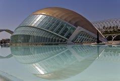 Hemisferic die Stadt der Künste und der Wissenschaften Valencia Lizenzfreie Stockbilder
