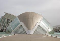 Hemisferic ett planetariskt i staden av konster och vetenskap, Valenci royaltyfri bild