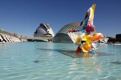 Hemisferic na cidade das artes e das ci?ncias em Val?ncia, Espanha fotos de stock royalty free