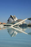 Hemisferic and Palau. View of Hemisferic and Palau in the City of Arts and Sciences Stock Image