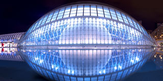 Hemisferic Planetarium in Valencia Lizenzfreies Stockbild