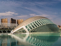 Hemisferic stad av konster och vetenskaper, Valencia Fotografering för Bildbyråer