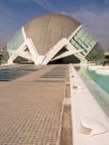 Hemisferic stad av konster och vetenskaper, Valencia Arkivbild
