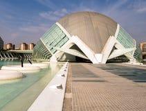 Hemisferic stad av konster och vetenskaper, Valencia royaltyfri fotografi