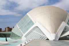 Hemisferic in Stad van Kunsten & Wetenschappen, Valencia Royalty-vrije Stock Foto