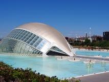 Hemisfericen, stad av konster och vetenskaper, Valencia royaltyfria bilder