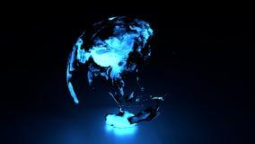 Hemisferio del este de la tierra olográfica libre illustration