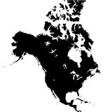 Hemisfério Norte Imagem de Stock Royalty Free