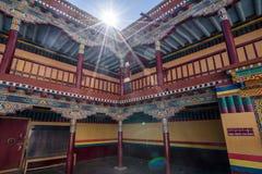 Hemisklooster, de grootste en populairste kloosters in Ladakh stock afbeelding
