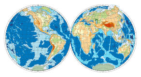 Hemisphere of Earth. Vector illustration Royalty Free Stock Photo