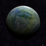 Hemisphere satellite view of a planet earth. From outer space Royalty Free Stock Photography