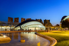 Hemispheric of Arts of City of Arts and Sciences Royalty Free Stock Images