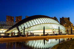 Hemispheric of Arts of City of Arts and Sciences. VALENCIA, SPAIN - JULY 21, 2016: Hemispheric of Arts of City of Arts and Sciences is an entertainment based Royalty Free Stock Images