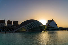 Hemispheric and Reina (Queen) Sofia Palace of Arts of City of Arts and Sciences Stock Image