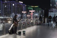 Hemlös man i Las Vegas Arkivfoton