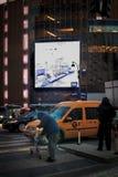 Hemlös man i New York City Arkivfoto