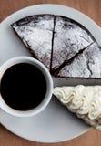 Hemlagad Belgien chokladkaka Royaltyfri Bild
