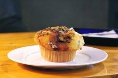 Hemlagad bluebrry muffin arkivbilder
