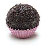 Hemlagad brigadeiro, brasiliansk chokladtryffel Royaltyfria Bilder