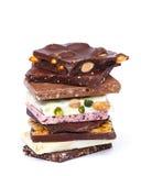 Hemlagad choklad Arkivbild
