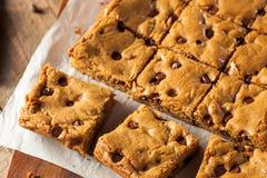 Hemlagad choklad Chip Blondies royaltyfri bild
