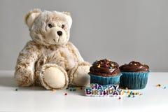 Hemlagad chokladmuffin med stänk Royaltyfria Bilder
