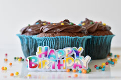 Hemlagad chokladmuffin med stänk Royaltyfri Bild